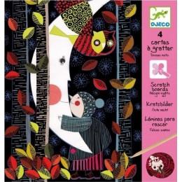DJECO 09720 Scratch Art - Zdrapywanka - Noc