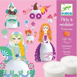 DJECO 09733 Zestaw z masą plastyczną - Księżniczki