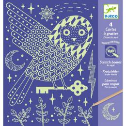 DJECO - Wydrapywanka Scratch-art - W nocy 09735