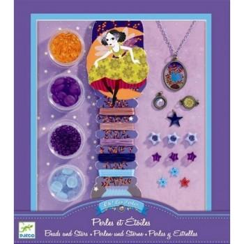 DJECO 09805 Zestaw do biżuterii - Perły i Gwiazdki