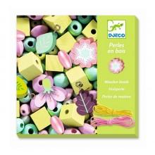 DJECO - Drewniana biżuteria - Kwiaty i listki 09808