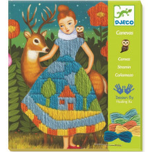 DJECO - Zestaw artystyczny do wyszywania - Sukienka 09827