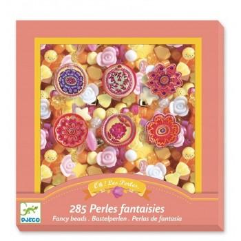DJECO – Zestaw do tworzenia biżuterii – Perełki i Kwiaty 09854