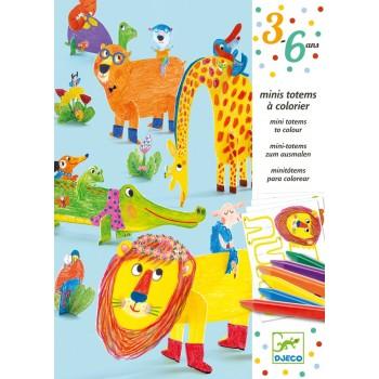 """DJECO 09861 Zestaw artystyczny - """"Mini totemy"""" Przyjaciele"""