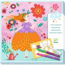 DJECO - Zestaw artystyczny z magicznym pisakiem - Sukienka 09886