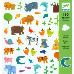 DJECO 08841 Zestaw naklejek - Zwierzęta