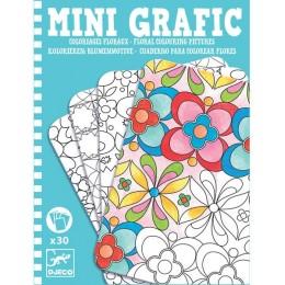 DJECO 05380 Mini grafika - Kolorowanka Kwiaty
