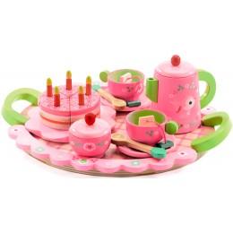 DJECO 06639 Drewniany zestaw urodzinowy Lili Rose