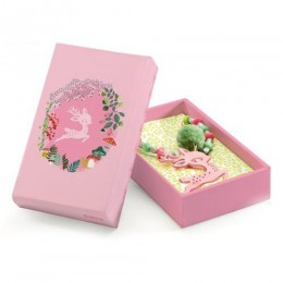 DJECO 06655 Naszyjnik - Różowy jelonek