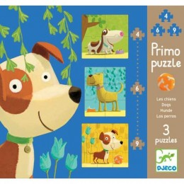 DJECO 07137 Pierwsze Puzzle - Psy