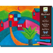 DJECO 08610 Zestaw artystyczny - Malowanie pastelami - Abstrakcje