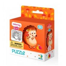 DODO – Puzzle + kolorowanka 16 el. – Jeżyk 300119