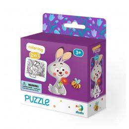DODO – Puzzle + kolorowanka 16 el. – Zajączek 300121