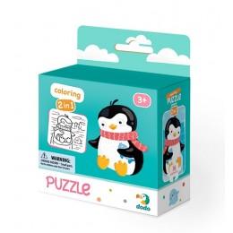 DODO – Puzzle + kolorowanka 16 el. – Pingwinek 300122