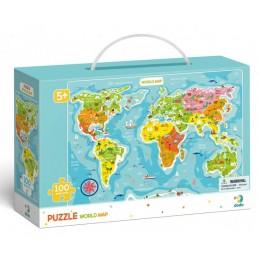 DODO – Puzzle 100 el. – Mapa świata 300123