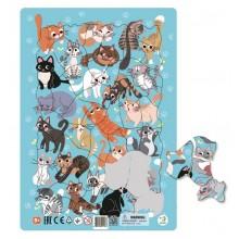 DODO – Puzzle ramkowe 53 el. – Koty 300180