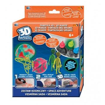 Epee 02852 Fabryka 3D - Zestaw kosmiczny - żele i szablony