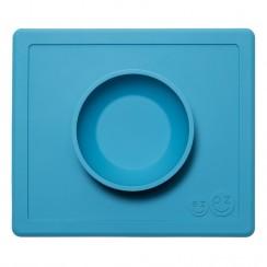 EZPZ Silikonowa miseczka 2w1 z podkładką - kolor niebieski - Happy Bowl 0532