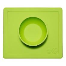 EZPZ Silikonowa miseczka 2w1 z podkładką - kolor zielony - Happy Bowl 0533