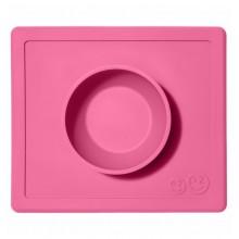 EZPZ Silikonowa miseczka 2w1 z podkładką - kolor różowy - Happy Bowl 0534
