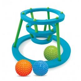 Edushape 525006 Zestaw kąpielowy - Piłki sensoryczne z koszem