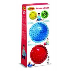 Edushape 705179 Zestaw piłek sensorycznych - 4 elementy