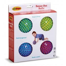Edushape 715174 Zestaw czterech piłek sensorycznych - Tęcza