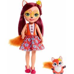 Enchantimals - Duża lalka Felicity Fox i Flick - FRH53
