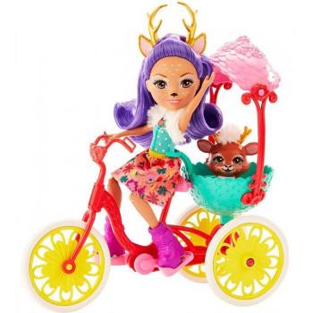 Enchantimals – Przyjaciele na rowerze – Lalka Danessa Deer i jelonek Sprint – GJX30