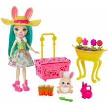 """Enchantimals - Zestaw """"Wiosenne Króliczki"""" + lalka Fluffy Bunny - GJX33"""