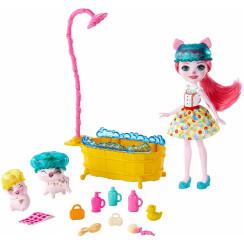 """Enchantimals - Zestaw """"Wesoła kąpiel"""" + lalka Petya Pig - GJX36"""