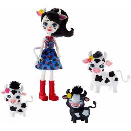 Enchantimals - Lalka Cambrie Cow z krówkami - GJX44