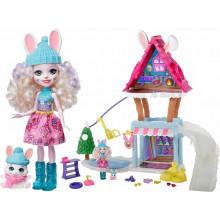Enchantimals - Zimowa chatka - Lalka Bevy Bunny i króliczek Jump – GJX50