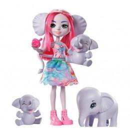 Enchantimals – Lalka Esmeralda Elephant i słoniki – GTM30