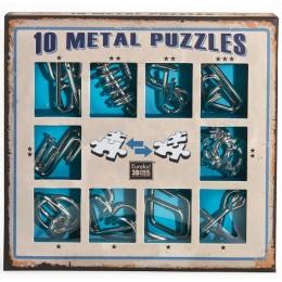 Eureka! Puzzle metalowe 3D - Łamigłówki - zestaw niebieski 473356