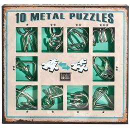 Eureka! Puzzle metalowe 3D - Łamigłówki - zestaw zielony 473357