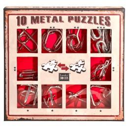 Eureka! Puzzle metalowe 3D - Łamigłówki - zestaw czerwony 473358