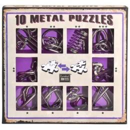 Eureka! Puzzle metalowe 3D - Łamigłówki - zestaw fioletowy 473359