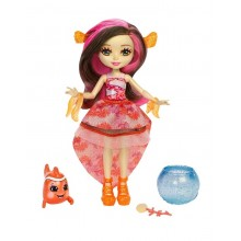 Enchantimals FKV56 Lalka zmieniająca kolor Clarita Clownfish i błazenek