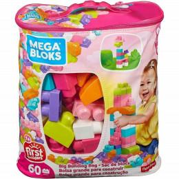 Mega Bloks DCH54 Torba Różowa + Klocki 60 elementów