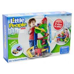 FISHER PRICE - Little People DFT71 Górskie Miasteczko 2w1 + Autka