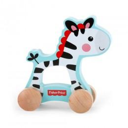 Fisher Price 10002 Drewniana Zebra na kółkach