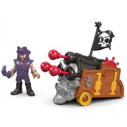 Imaginext – Pirat Davey Jones i potrójna armata DHH74