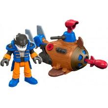 Imaginext – Mini łódź podwodna + figurka DTL98