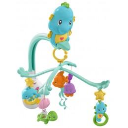 Fisher Price - Muzyczna karuzela z zabawkami 3w1 - Konik morski DFP12