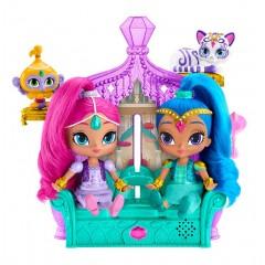 Fisher Price Shimmer i Shine DGL73 Brokatowy pałac dżinów + dwie lalki