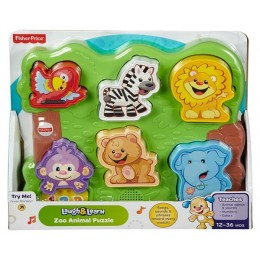 Fisher Price DLB26 Puzzle Malucha WESOŁE ZOO