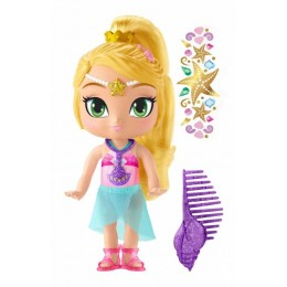 Fisher Price Shimmer i Shine - Lalka Leah na plaży - DTK84