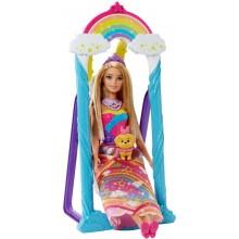 Barbie Dreamtopia FJD06 Huśtawka Księżniczki + lalka