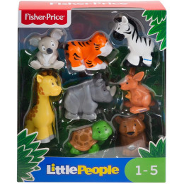 Fisher Price - Little People – Zestaw 8 figurek - Dzikie zwierzęta - GFL22